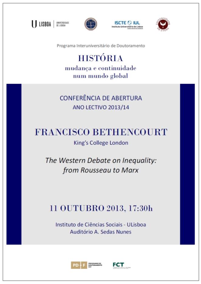 PIUDHist - Conferência de Abertura Ano Lectivo 2013-14