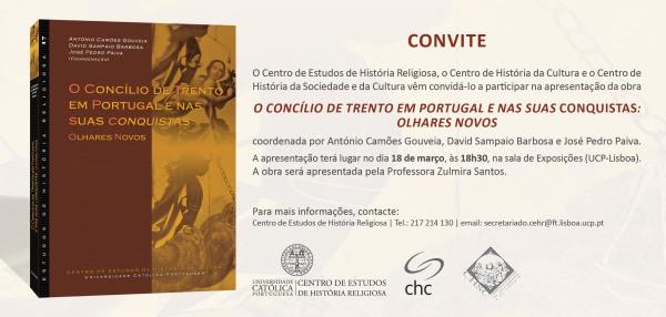 """Apresentação do livro """"O Concílio de Trento em Portugal e nas suas conquistas: olhares novos"""""""