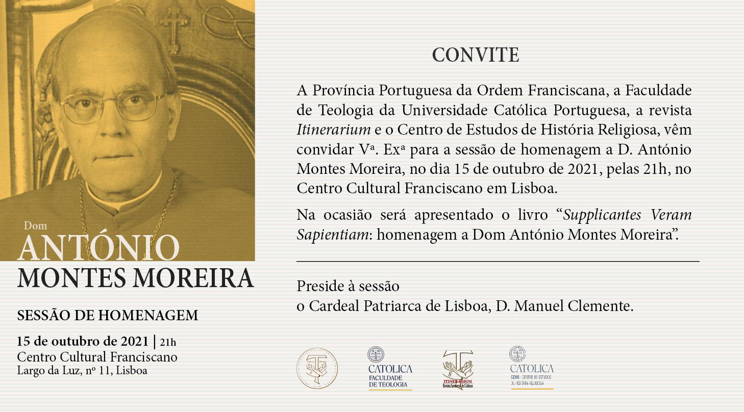 Sessão de Homenagem a D. António Montes Moreira