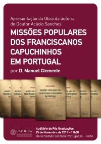 """Livro """"Missões populares dos franciscanos capuchinos em Portugal: análise histórico-teológica"""""""