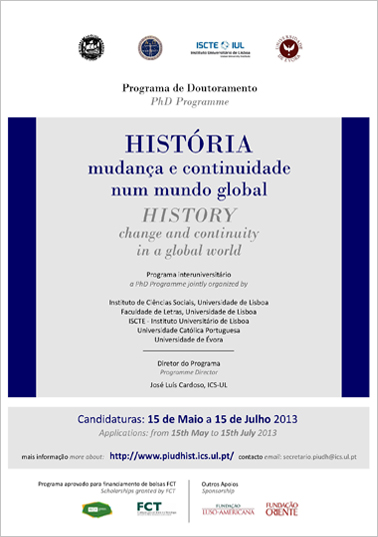 Programa InterUniversitário de Doutoramento em História (PIUDHIST): Mudança e Continuidade num Mundo Global