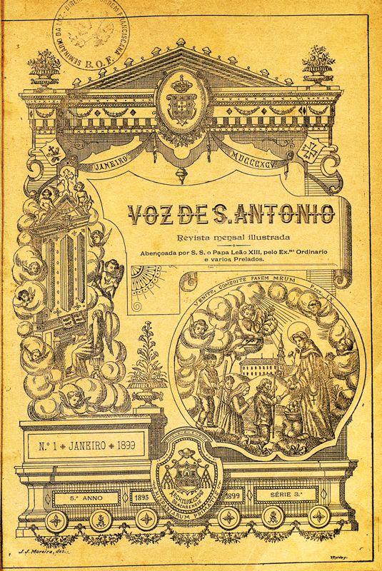 Revista Voz de S. António - Capa da edição de Janeiro de 1899